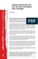 Agricultural Reforms and Rural Poverty: The case of the peanut industry in Senegal