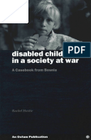 Disabled Children in a Society at War: A casebook from Bosnia