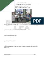 Analisis de Situaciones. Leer en Voz Alta