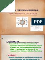 Organización antómica del sistema inmunitario. tema 5. Antigenos y Antigenicidad