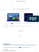 Uso a distancia de la PS4 Windows® en PC