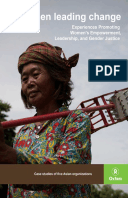 Women Leading Change: Experiences promoting women's empowerment, leadership, and gender justice