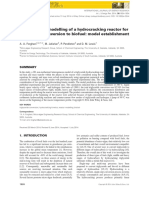 Mathematical modelling of a hydrocracking reactor for triglyceride conversion to biofuel
