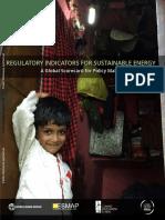 Banco Mundial Informe Regulatory Indicators for Sustainable Energy 2016