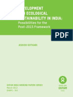 Development and Ecological Sustainability in India
