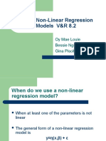 Non Linear Regression Models B 非线性回归