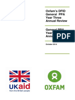 Oxfam's DFID General PPA Year Three  Annual Review