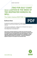 Advocating for Gulf Coast Restoration in the Wake of the Deepwater Horizon Oil Spill: The Oxfam America RESTORE Act Campaign