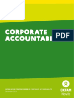 Oxfam Novib Strategy Paper on Corporate Accountability