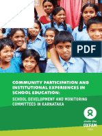 Community Participation and Institutional Experiences in School Education