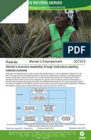 Women's Empowerment in Rwanda: Evaluation of women's economic leadership through horticulture planting material business