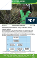 Women's Empowerment in Rwanda: Evaluation of women's economic leadership through horticulture planting material business