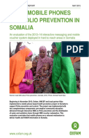 Using Mobile Phones for Polio Prevention in Somalia: An evaluation of the 2013–14 interactive messaging and mobile voucher system deployed in hard to reach areas in Somalia