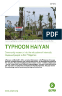 Typhoon Haiyan: Community research into the relocation of internally displaced people in the Philippines