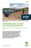 Supporting Smallholder Livelihoods in Tajikistan: Working with women farmers to build new forms of collective action