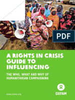 A Rights in Crisis Guide to Influencing