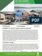 Humanitarian Quality Assurance – Philippines