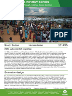 Humanitarian Quality Assurance – South Sudan