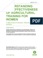 Understanding the Effectiveness of Agricultural Training for Women
