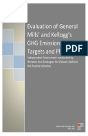 Evaluation of General Mills' and Kellogg's GHG Emissions Targets and Plans: Independent Assessment conducted by Winston Eco-Strategies for Oxfam's Behind the Brands Initiative