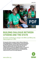 Building Dialogue Between Citizens and the State: Six factors contributing to change in the Within and Without the State programme in DRC