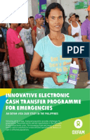 Innovative Electronic Cash Transfer Programme for Emergencies: An Oxfam–Visa case study in the Philippines