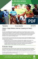 Accountability Review in Tanzania: Fahamu, Ongea Sikilizwa / Informed, Speaking and Heard project