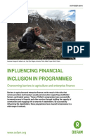 Influencing Financial Inclusion in Programmes: Overcoming barriers to agriculture and enterprise finance