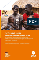 Factors and Norms Influencing Unpaid Care Work: Household survey evidence from five rural communities in Colombia, Ethiopia, the Philippines, Uganda and Zimbabwe
