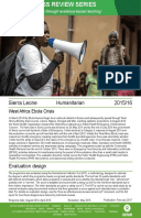 Humanitarian Quality Assurance – Sierra Leone: Evaluation of Oxfam's humanitarian response to the West Africa Ebola crisis