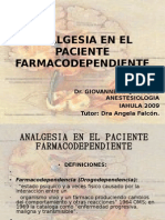 Analgesia en El Paciente Farmacodependiente Giovanne