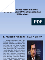 Top 10 Richest Person in India 2016-17 –