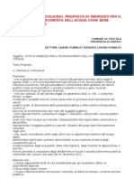 Sel Cercola(Na)_proposta Per Il to Dell'Acqua Come Bene Comune