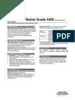 Basf Masterseal Below Grade 5500 Tds