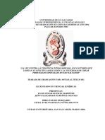 La Ley Contra La Violencia Intrafamiliar%2c Los Factores Que Limitan Su Efectiva Aplicación y La Necesidad de Crear Tribunales Especiales en San Salvador