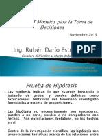 Presentación de Modelos Estadisticos Inferenciales - Prueba de Hipotesis 2015