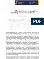 The Global Financial Crisis-Learning from Regulatory and Governance Studies