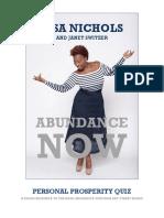 Abundance Now Personal Prosperity Quiz