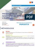 Intentions de Vote - Vague 11 - POP2017 - 4 Mars 2017 - Présentation