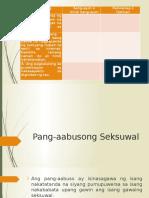 Pang Aabusong Seksuwal