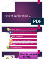 Patient Safety in ETD