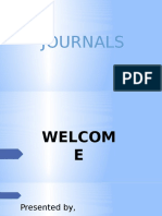 POWERPOINT PRESENTATION ON JOURNALS