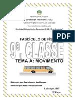 TEMA A:Movimento. Fasciculo de Física,2017