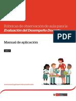 Manual de Aplicación de Rúbricas  de Observación de Aula para Evaluación Docente