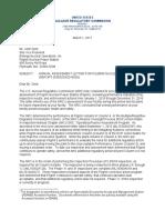 Pilgrim 2016 Annual Assessment Letter & Report