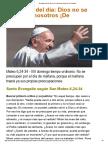 EE Papa Francisco Dios No Se Olvida de Nosotros ¡de Ninguno! 2017