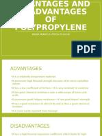 Advantages and Disadvantages of Polypropylene