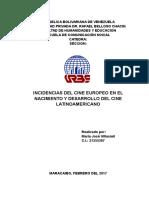 Ensayo SOBRE INFLUENCIAS DEL CINE EUROPEO AL CINE LATINOAMERICANO