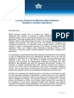 Common Protocol for Minimum Data Collection Variables in Aviation Ops