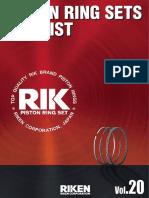 Riken Piston Ring Sets Size List Vol20